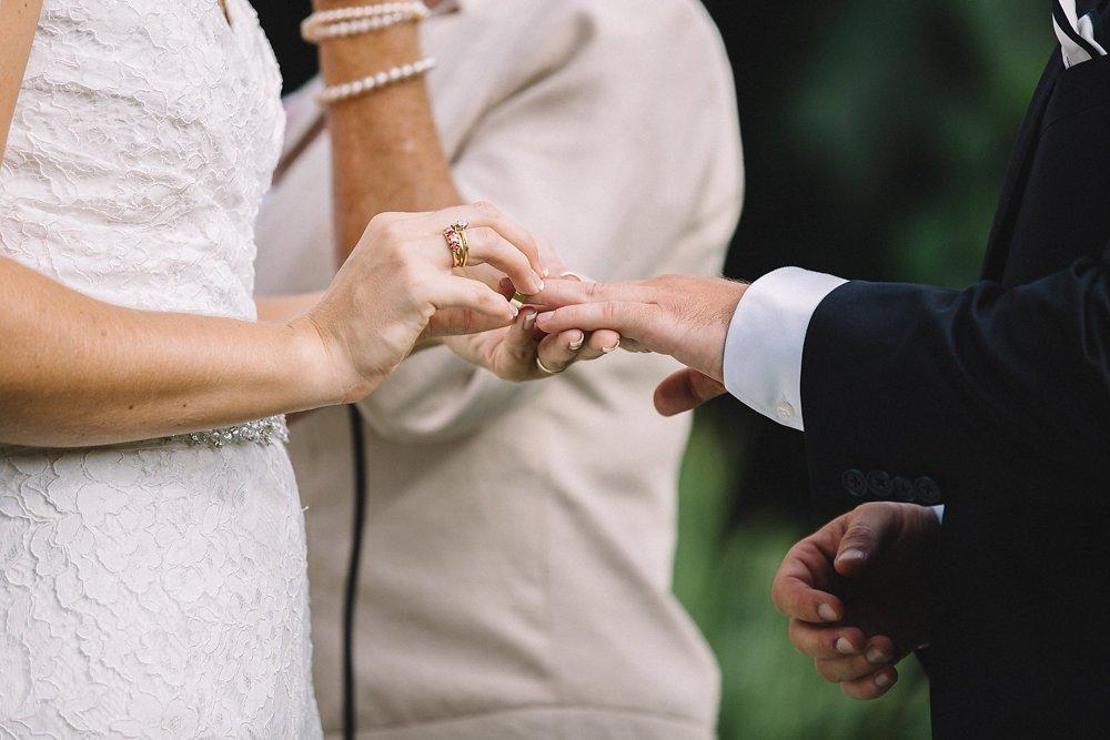Wedding ring on grooms left hand