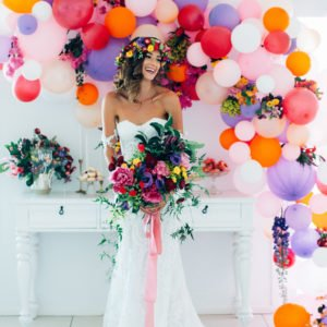 Styled Shoot // Colour Burst Wedding at Summergrove Estate