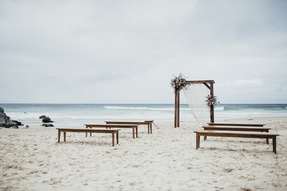 Best ceremony locations on the Tweed Coast Little Cove Beach Cabarita