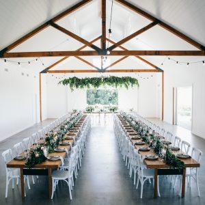Summergrove Estate White Wedding Barn Tweed Coast Wedding Venue