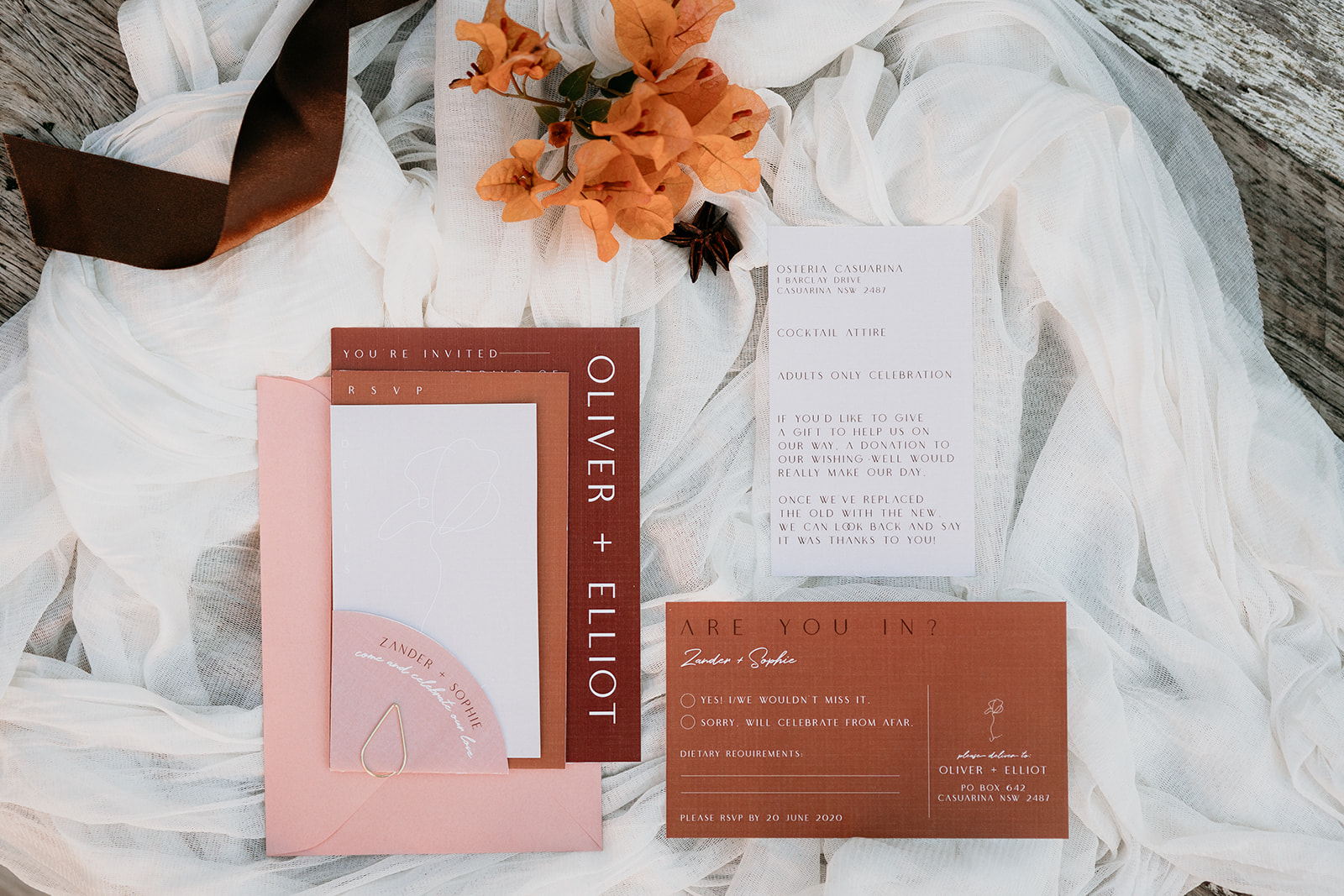 Styled Shoot :: Autumnal Romance at Osteria, Tweed Coast Wedding Venue